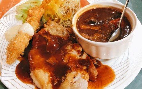 倉敷市笹沖「山賊」でディナーを食べてみた!レトロな喫茶店えボリューム満点
